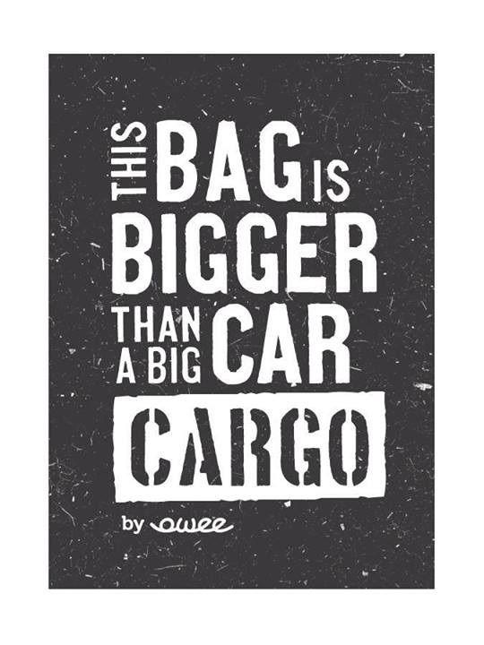 this bag is bigger than a big car. CARGO