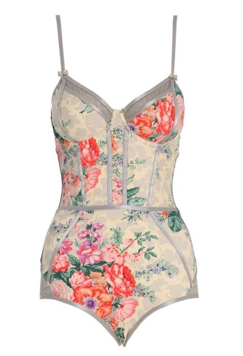 Floral and bows lingerie