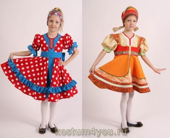 Костюмы для русских народных танцев для детей фото