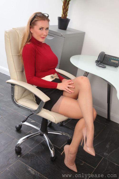 Secretaries In Short Skirts Stockings 62