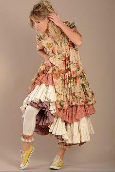 Robe tunique fleurie CALLAS Nadir Positano 2014 par Boho-Chic Clothing