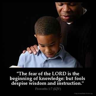 Imagem inspirada por Provérbios 1: 7