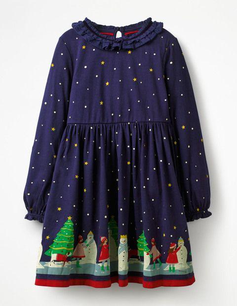 872b2df3a Ruffle Neck Festive Dress G0906 Jersey Dresses at Boden