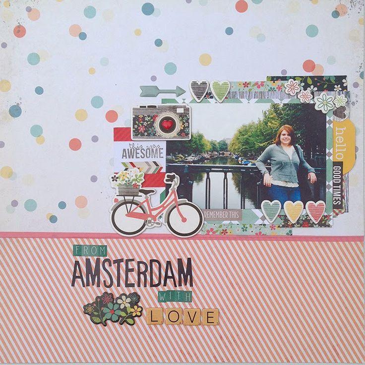 Amsterdam by Manda Moore, using Polly! Scrap Kits February 2014 Passionfruit Souffle scrap kit