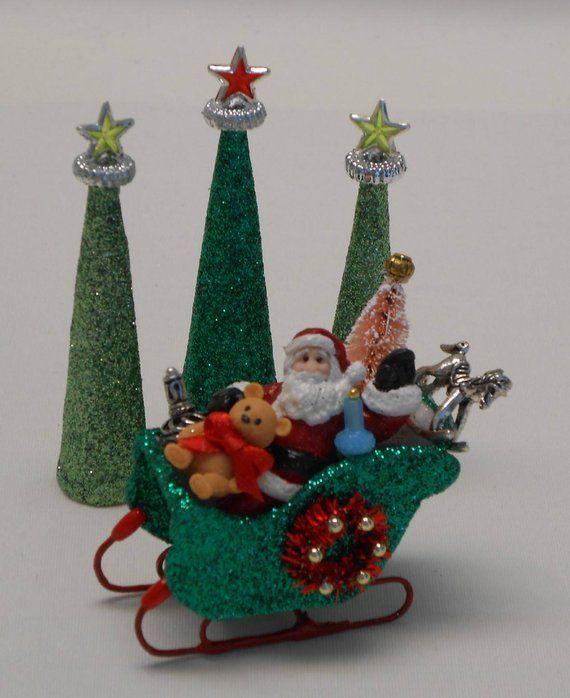 Christmas Dollhouse Decorations.Miniatuurpoppenhuizen Dollhouse Miniature Handcrafted