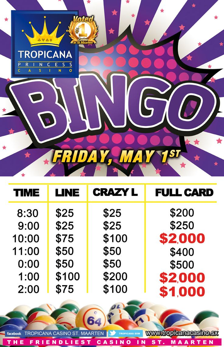 Bingo Special May 01, 2015 10 pm 2,000 1 am