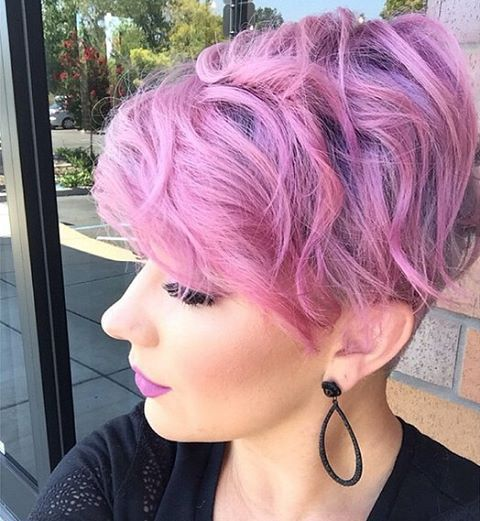 35 Cool Hair Color Ideas To Try In 2016: 25+ Best Ideas About Purple Pixie Cut On Pinterest