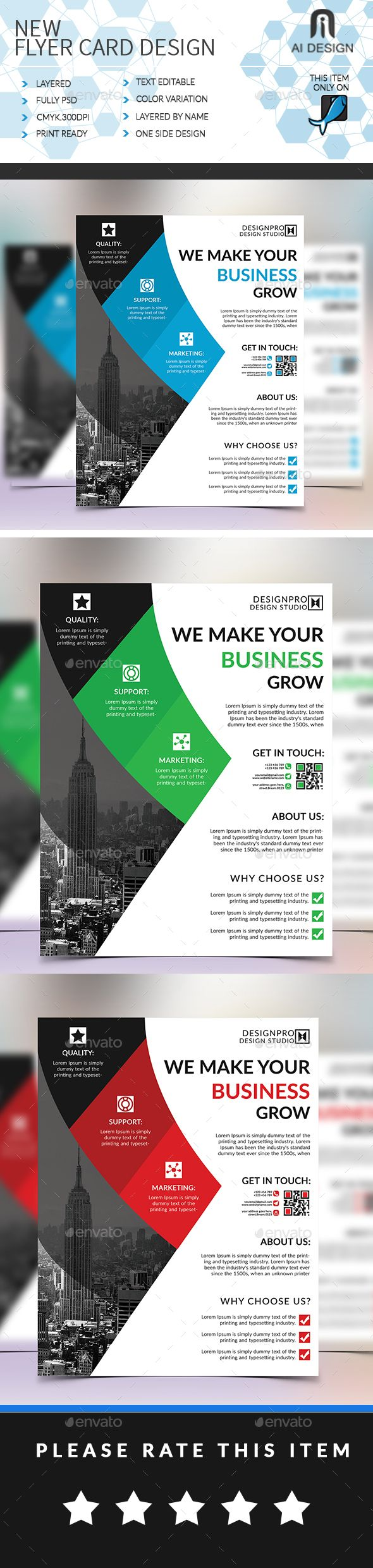 #Corporate #Flyer - Flyers Print Templates Download here:  https://graphicriver.net/item/corporate-flyer/20292033?ref=alena994