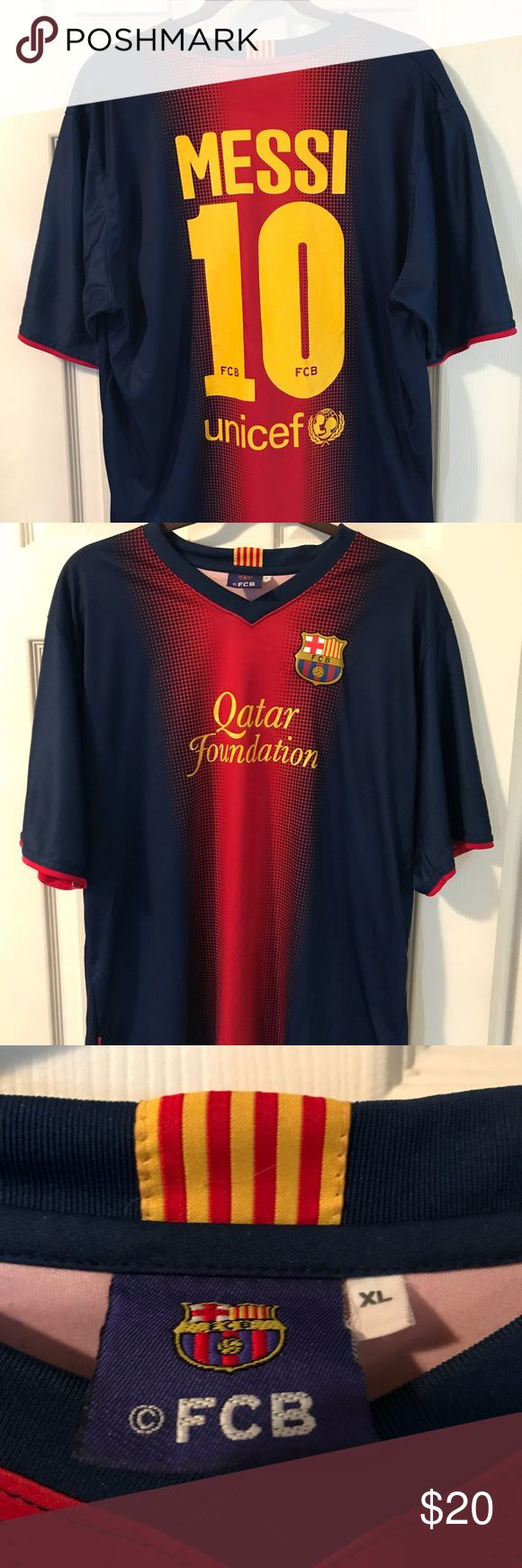 Lionel Messi Jersey Original Lionel Messi jersey from Barcelona, Spain. This garment has been lightly warn with no signs of damage. Great garment for the upcoming summer. Shirts Tees - Short Sleeve