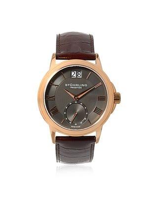 57% OFF Stuhrling Men's 384.3345K54 Prestige Brown/Grey Stainless Steel Watch