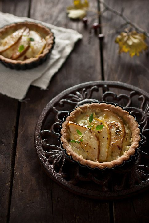 Pear & Cheddar Tarts With Cornmeal Crust