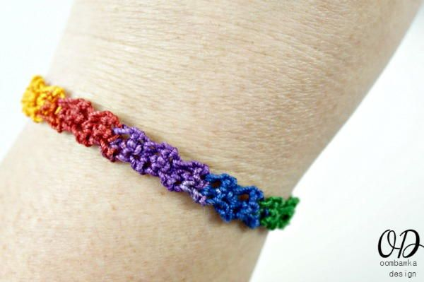 Rainbow Friendship Bracelet ~ beginner ~ great gift! ~ FREE CROCHET pattern