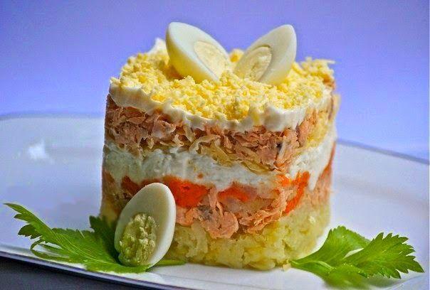 Лучшие кулинарные рецепты: А-ля мимоза