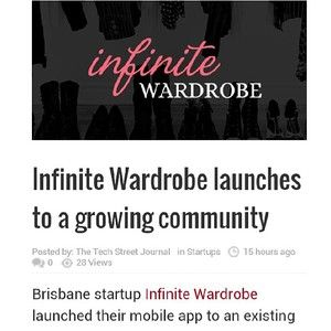 App feauture on The Tech Street Journal #press #feature #IW #fashion #app