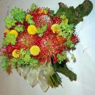 buchet mireasa din flori exotic
