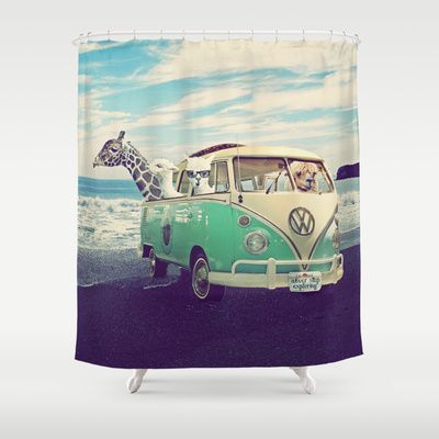 NEVER STOP EXPLORING THE BEACH Shower Curtain By Monika Strigel