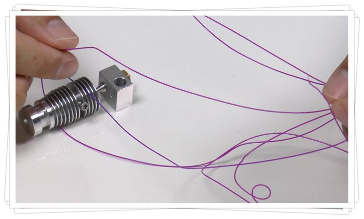 Správný výstup z trysky. Correct extrusion from the nozzle.