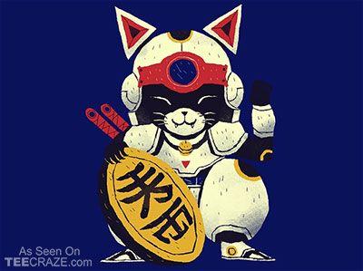 Lucky Pizza Cat T-Shirt - http://teecraze.com/lucky-pizza-cat-t-shirt/ -  Designed by ouisros