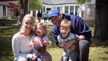 former dallas cowboys quarterback tony romo and his wife, candice, shared family photos with people magazine.  photo cre... -