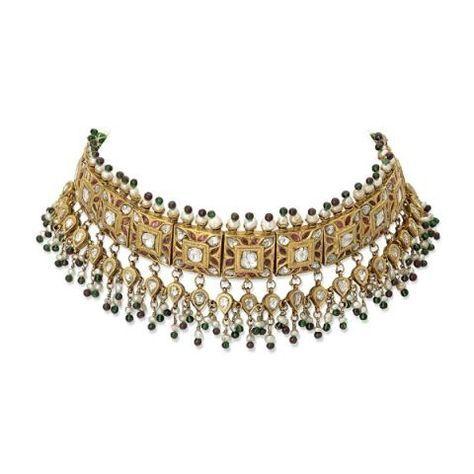 By Christie's Fine Jewellery. Bridelan - Personal shopper & style consultants for Indian/NRI weddings, website www.bridelan.com #WeddingChoker #BridalChoker #PolkiChoker #ChokerNecklace #JadauChoker #BridalJewellery #DiamondChoker #EmeraldChoker #RoyalWeddingJewellery  #Polki #Jadau #IndianJewellery #TraditionalJewellery #Bridelan #BridelanIndia