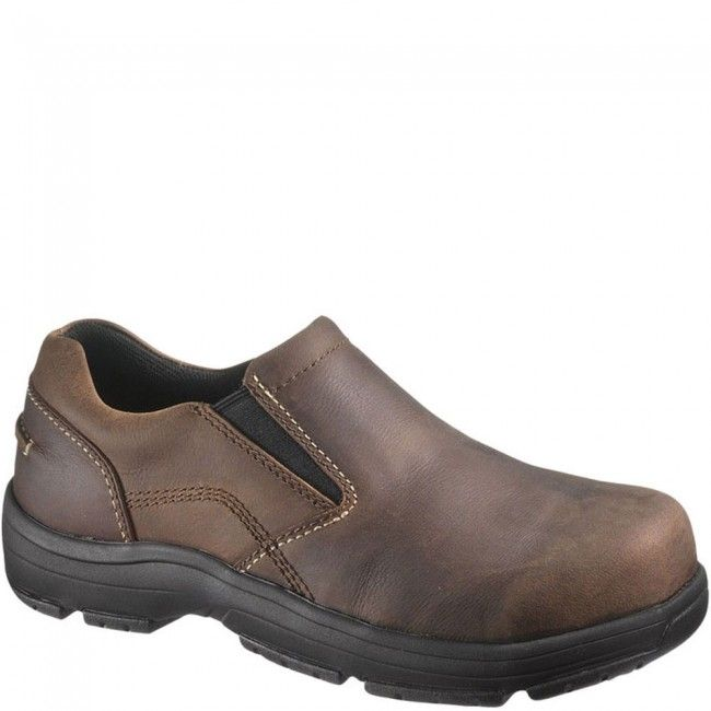 30401 Hush Puppies Professionals by Hytest Unisex Safety Slip On - Brown  www.bootbay.