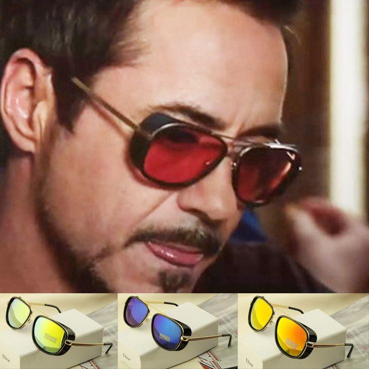 New Lron Man Retro Frame Cute Men Sunglasses Women Brand Designer Sun Glasses Steampunk Oculos De Sol Feminino Goggles  #style #beard #fashion #retro #bearded #prohibition #vintage #life