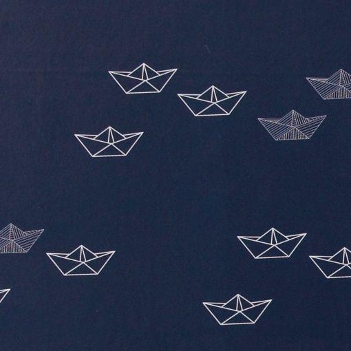Vaxduk mörkblå m båt
