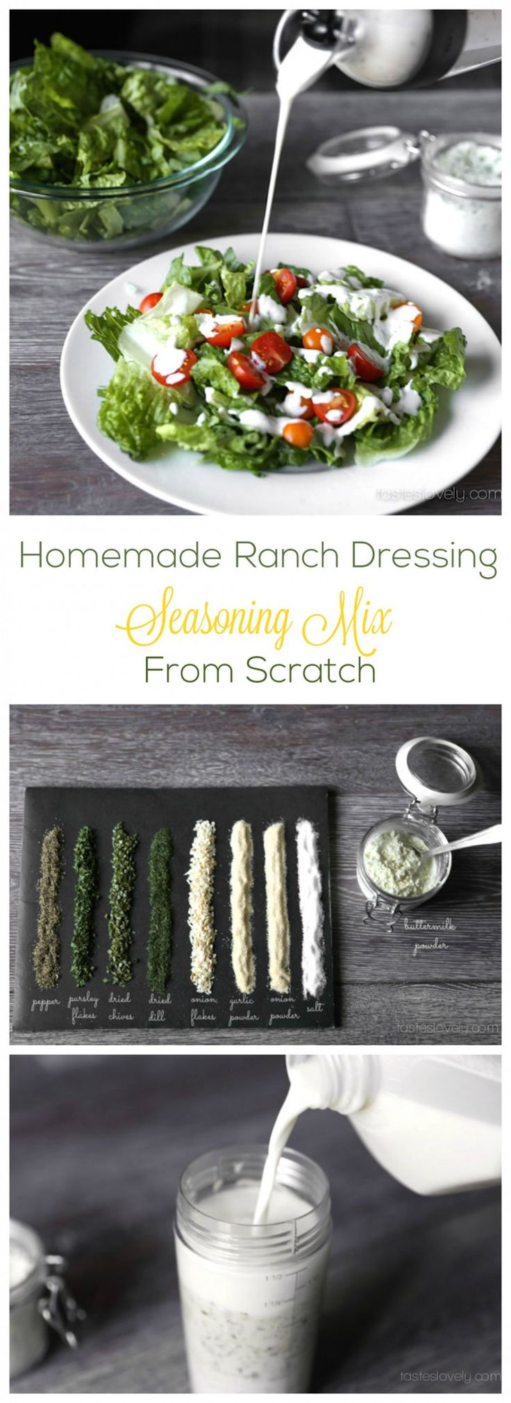 Homemade Ranch Dressing Mix from Scratch - the BEST ranch ever!