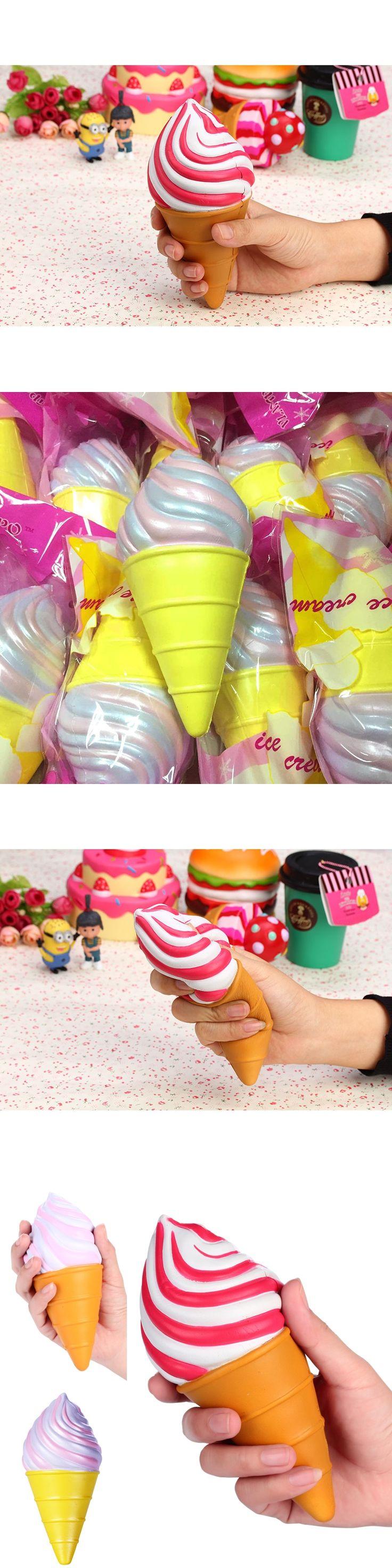 1pc Retail Ice cream Squishy Slow Rising Squishy Toys Vlampo Squishies Wholesale Torch ice cream Cone Licensed Original 3 color