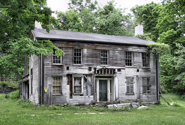 An old abandoned and decaying farmhouse along State Route 22, Dover Plains, NY.  Beautiful!