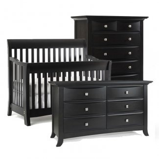 This Bonavita 3 piece set in licorice includes the crib to full-size convertible Metro Lifestyle Crib, 5 drawer dresser and double dresser. JPMA, CPSC & ASTM certified. Free shipping!