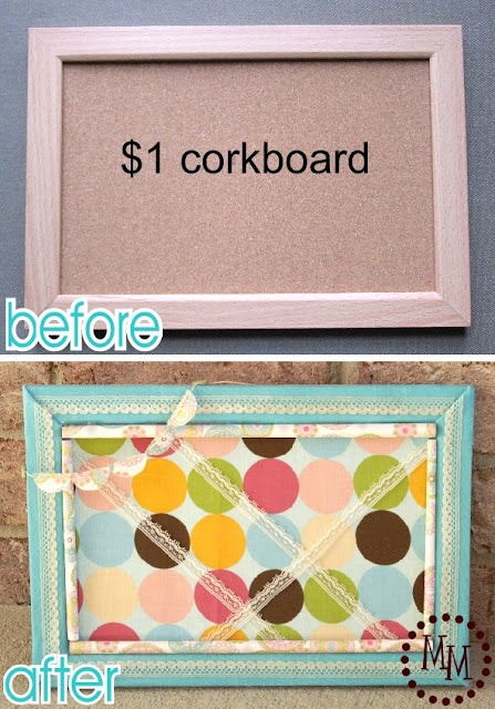 Cute corkboard makeover: Bows Holders, Decor Ideas, Good Ideas, Crafts Ideas, Boards Makeovers, Diy Crafts, Corkboard Makeovers, The Offices, Diy Corks Boards
