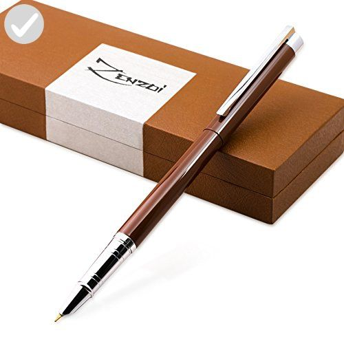 Fountain Pen with Ink Refill Converter and Gift Box - Timeless Classics Collection - Executive Writing Signature Calligraphy Pens Set For Standard Cartridges (Chocolate Espresso Brown) - Refine your workspace (*Amazon Partner-Link)