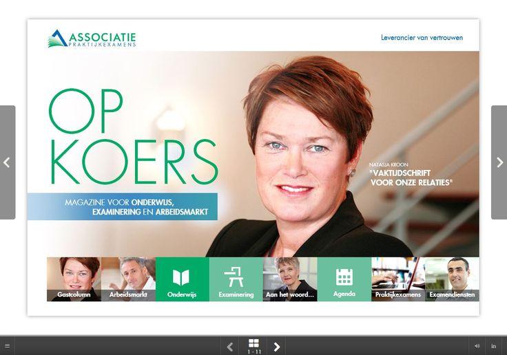 Online magazine Op Koers in html 5, leesbaar op alle devices. Van strategie en bladformule tot workshop redactie en oplevering 1e editie.