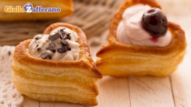 Cuori di sfoglia dolci (Puff Pastry Hearts) Super easy and cute!!!!