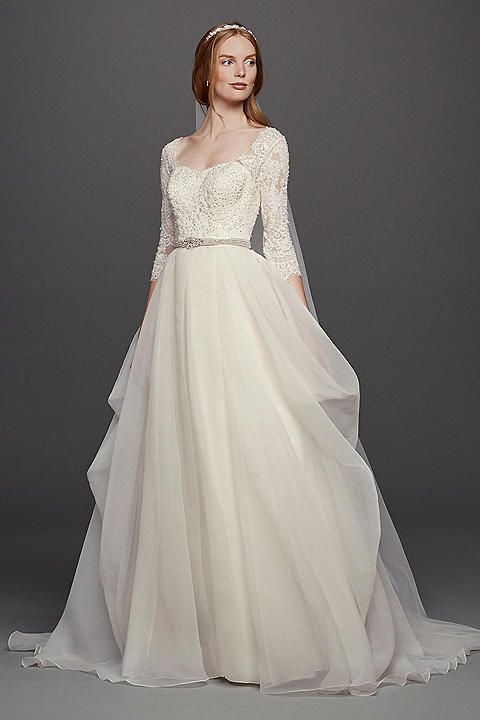 Long Sleeve Wedding Dresses & Gowns | David's Bridal