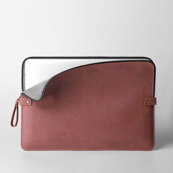 Leather Macbook Pro 13 Case Brown Macbook Air 13 Case Felt Macbook Pro 15 Case Personalized Laptop S