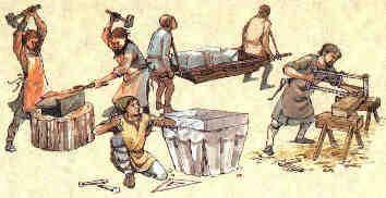 ambachtslui in de middeleeuwen