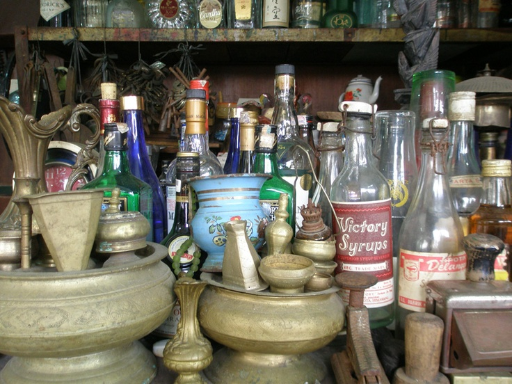 Old stuff, at Pasar Triwindu, Solo, Indonesia
