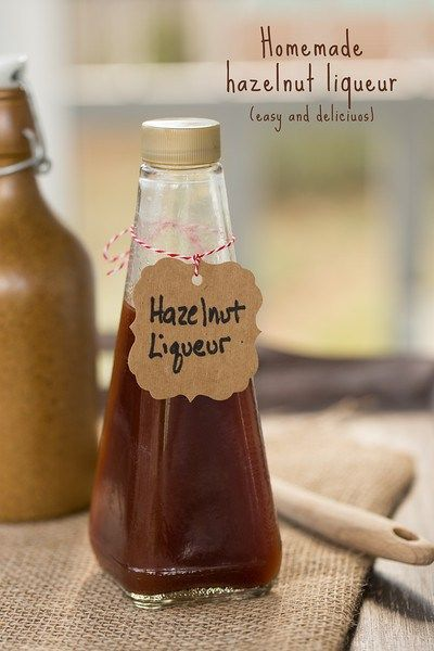 Homemade hazelnut liqueur so easy and delicious!   Food, Drinks and ...