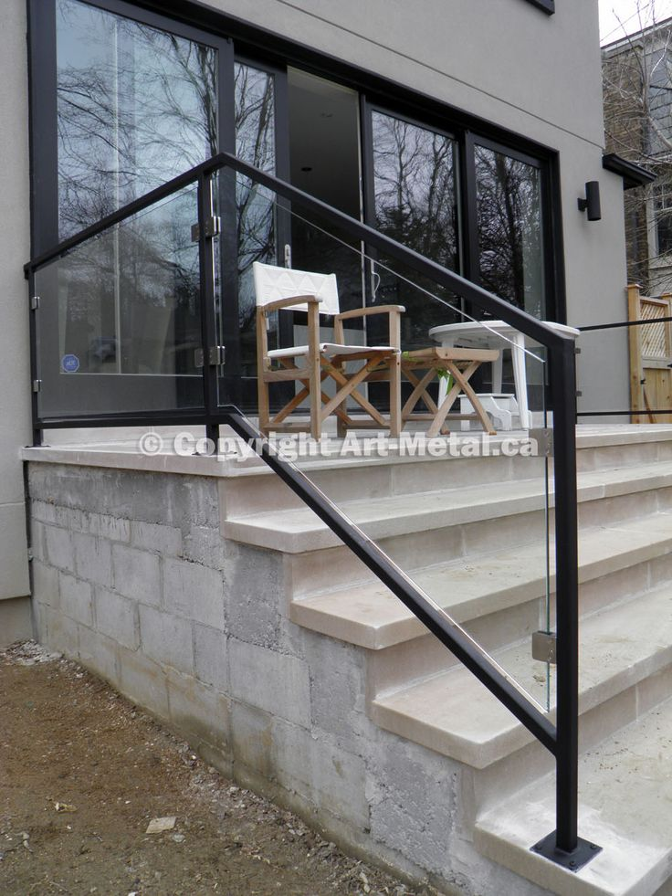 Modern Glass Exterior Railing Hillside Pleasant Grove