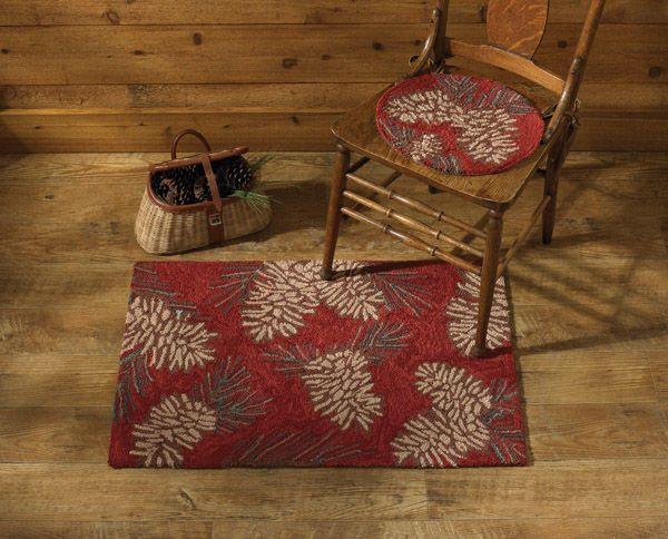 """Pinecone Hand Hooked Rug 24"""" x 36"""" by Park Designs"""