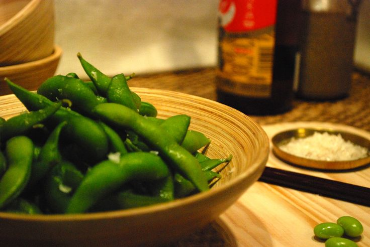 Himalayan salted edamame beans w fried shallots