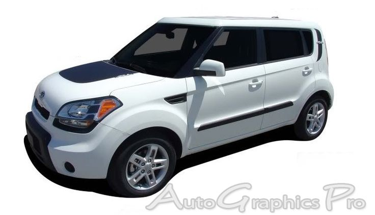 "2010-2013 Kia Soul ""SOUL PATCH"" Factory Style Hood and Side Vinyl Graphics"