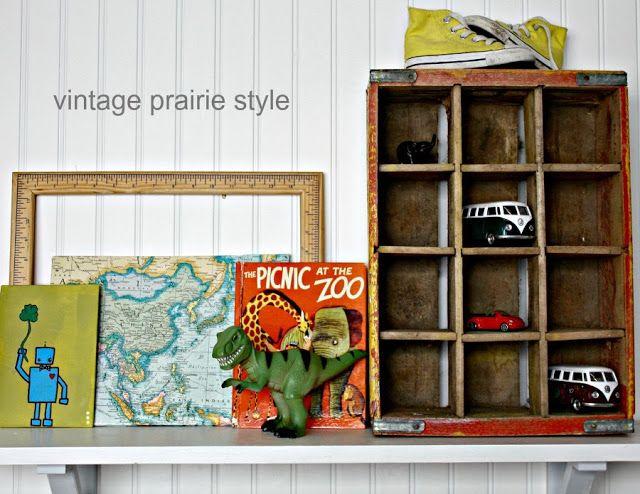 vintage prairie style: vintage mix boy's room
