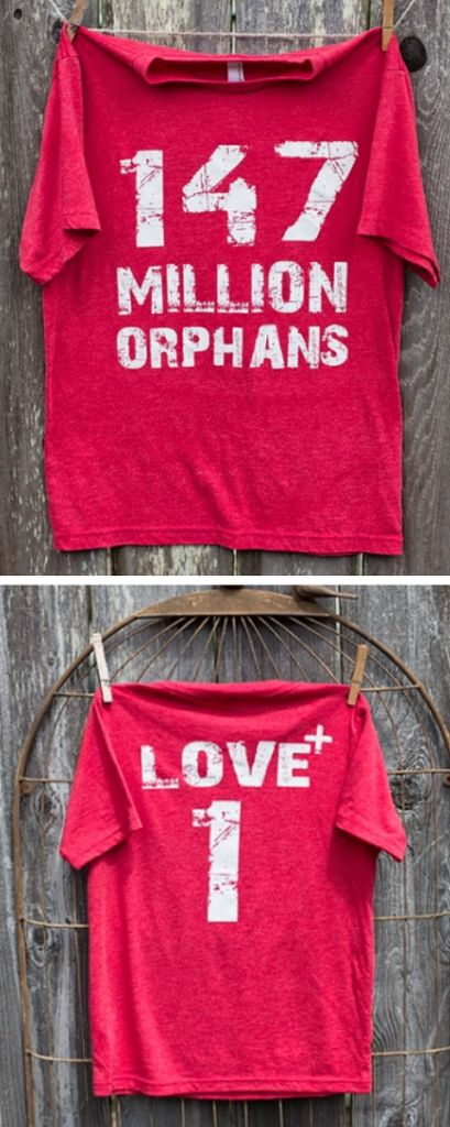 147 Million Orphans tee to support global adoptions