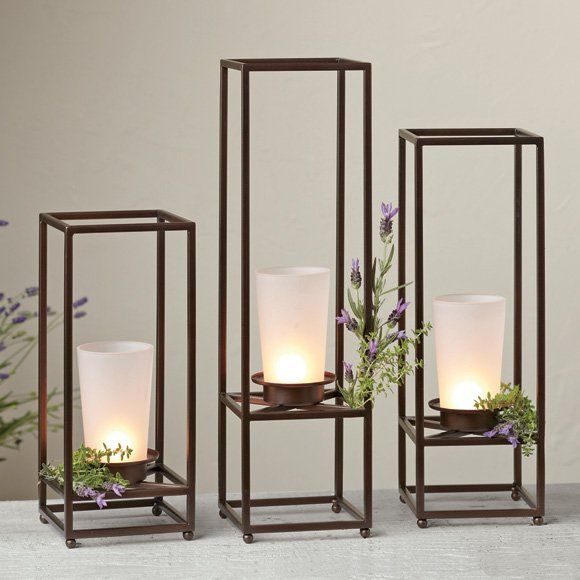 Framework pillar holder trio set of 3 at for Trio miroir partylite
