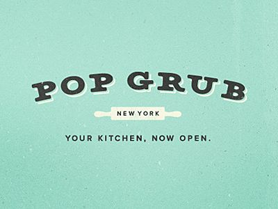 pop grub: Minimalist Design, Colors Pop, Pop Grubs, Vintage Fonts, Fonts Logos, Grubs Logos, Logos Design, Graphics Design, Identity Design