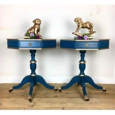 Pair of Bold Drum Side Tables
