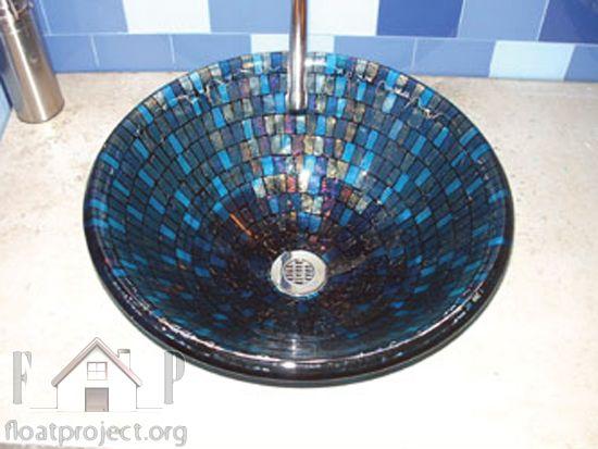 mosaic glass sink